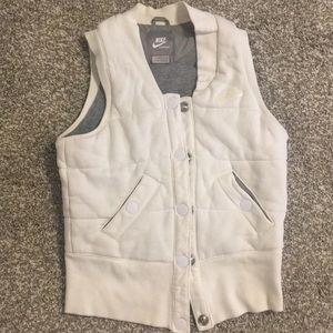 NIKE White Athletic Vest